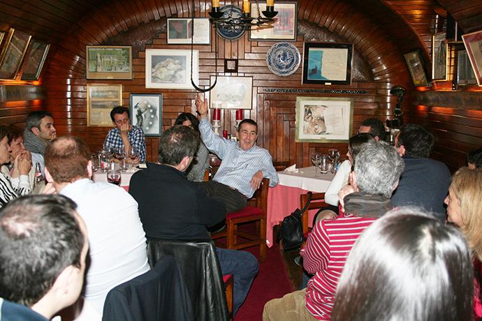 Fernando Sánchez Dragó Andrés Trapiello Encuentros Eleusinos en Café Gijón
