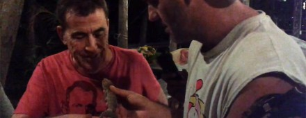 Frank de la Jungla muestra a Dragó un gekko salvaje