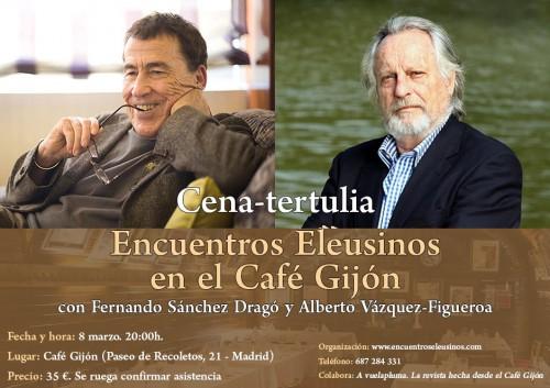 Alberto Vázquez-Figueroa en la tertulia de los Encuentros Eleusinos en el Café Gijón