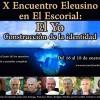 Programa del X Encuentro Eleusino en El Escorial
