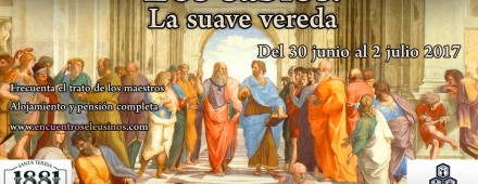 """Programa del XIX Encuentro Eleusino en Miraflores: """"Los sabios. La suave vereda"""""""