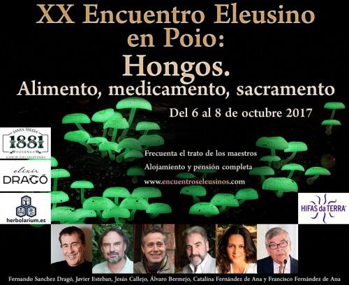 """Programa del XX Encuentro Eleusino en Poio: """"Hongos. Alimento, medicamento, sacramento"""""""