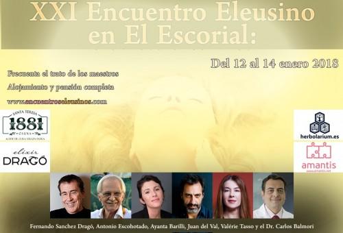 """Programa del XXI Encuentro Eleusino en El Escorial: """"El orgasmo o el rostro de Dios"""""""