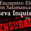 """Programa del XXII Encuentro Eleusino en Salamanca: """"La nueva Inquisición"""""""