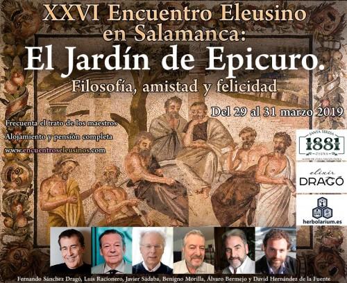 """XXVI Encuentro Eleusino en Salamanca: """"El Jardín de Epicuro. Filosofía, amistad y felicidad"""""""