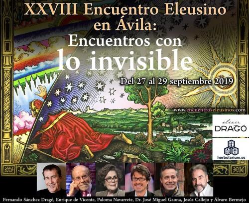 """XXVIII Encuentro Eleusino en Ávila: """"Encuentros con lo invisible"""""""