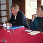 Iñaki Preciado y Fernando Sánchez Dragó en el III Encuentro Eleusino en Castilfrío
