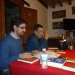 Javier Redondo Jordán y Fernando Sánchez Dragó, durante la presentación del III Encuentro Eleusino en Castilfrío